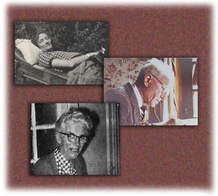 Grupo de fotografías en las que aparecen miembros de la familia Deffontaine fundadores de Auxilia